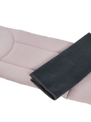 Husă și pernă_Gri și roz